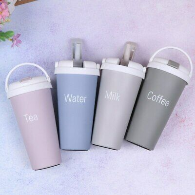AU20.56 • Buy 1Pc Kids Thermos Mug With Straw Stainless Steel Vacuum Flask Tumbler Thermos Cup