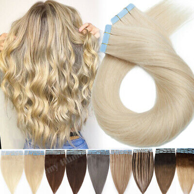 100% Real TAPE In Remy Russian Human Hair Extensions Seamless 150g Blonde Mix A9 • 15.73£