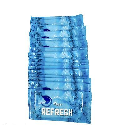 100 Pure Refresh Wet Hand Wipes Towel Individually Wrapped    • 6.99£