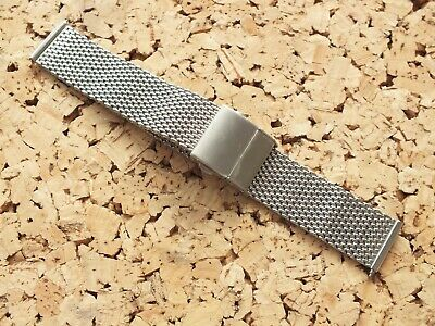 Brushed Stainless Steel Shark Mesh Quick Release Watch Strap 20mm / Geckota  • 4.71£