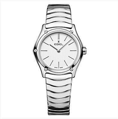 EBEL 29mm Stainless W/Silver Indices White Dial Ladies SWISS Quartz Watch 12124  • 485.52£