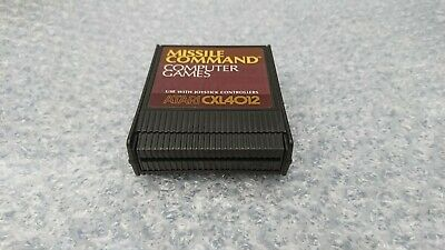 MISSILE COMMAND - ATARI 400/800/65 XE XL ROM Cartridge - TESTED & WORKING • 9.49£