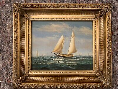 Framed Vintage Classic Yachts At Sea • 20£