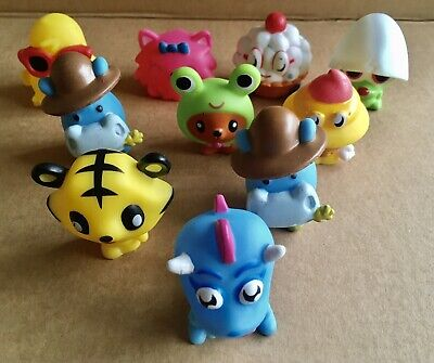 A Collection Of 10 X Squashi Squeaky Moshi Monsters Toys . Excellent Condition. • 2.50£