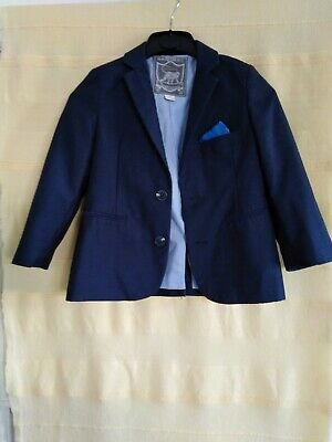 Boys Monsoon Short Suit Jacket. Navy Age 4yrs Long Sleeves.(447kf) • 2.99£