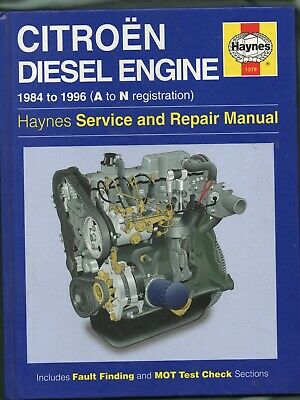 HAYNES  SERVICE AND REPAIR MANUAL CITROEN DIESEL ENGINE 1984-1996  No. 1379 • 5.95£