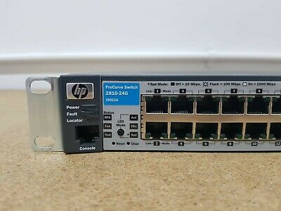 HP Procurve 2810-24G J9021A 24 Port Gigabit Switch (WITH Ears), TESTED • 40£