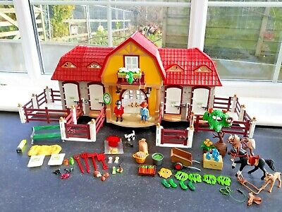 Playmobil 5221 Large Horse Pony Stable Farm.  Complete • 32£