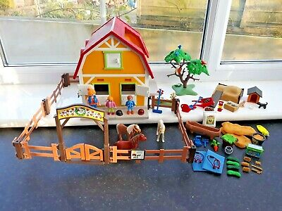 Playmobil 5222 Horse Pony Farm Stable.  Complete • 8.50£