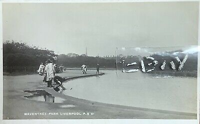 Wavertree (Botanic) Park, Liverpool. Real Photographic Postcard. • 15£