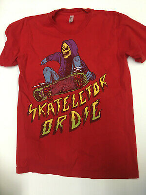 $14 • Buy Masters Of The Universe He-Man Skeletor Skateletor Or Die Men's Medium T-Shirt
