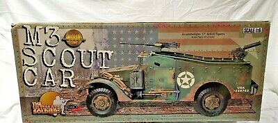 $650 • Buy 21st Century MINT WWII 1/6 US M3 Scout Car W/.50cal & .30cal MGs NEW Open Box