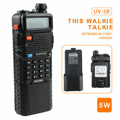 Baofeng UV-5R Two Way Radio Dual Band VHF UHF Walkie Talkie With 3800mah Battery • 25.99£