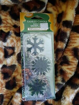 Yankee Candle Scented Snowflake Balsam And Cedar Christmas Tree Decoration New • 5.80£