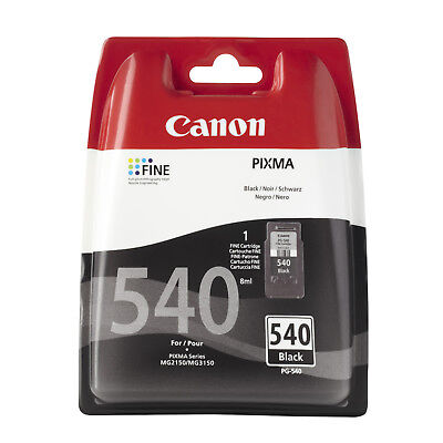 Original Genuine Canon PG540 Black Ink Cartridge For PIXMA MG2150 MG3150 • 16.95£