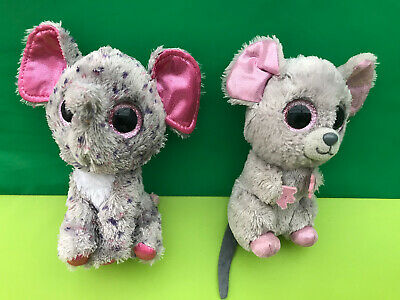TY Beanie Boo Specks Elephant & Squeaker Mouse Soft Toys 7  • 2.99£