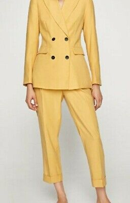 Zara Yellow Double Breasted Blazer Trouser Co-ord Set Suit Xs 2005/628 2144/628 • 34£