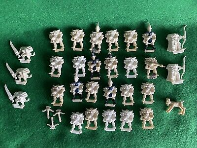 Vintage Citadel White Plastic Miniatures Elf Elves Skaven Rat Games Workshop OOP • 10£