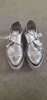 Tuk Creeper Style Black Leather Shoes Size 6 - Great Condition  • 40£