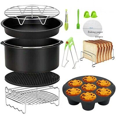 AU51.65 • Buy Air Fryer Accessories 7'' For Gowise, Phillips, Cozyna, Secura 3.7 4.2 5.3 5.8QT