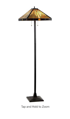Innes 65 In. Tiffany Style Mission Floor Lamp With 18 In. Shade Chloe Lighting • 196.09£