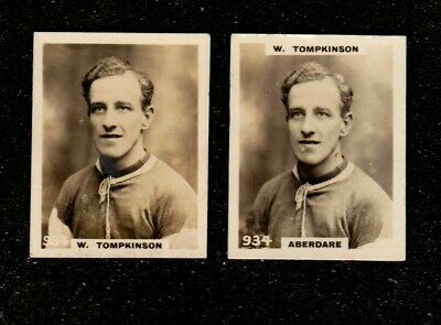 2 X 1922 Variety W Tompkinson Aberdare Phillips Pinnace Football Cigarette Cards • 2.99£