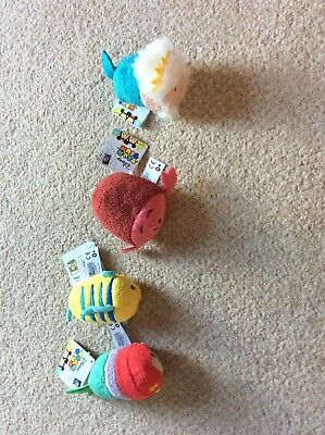 Disney Tsum Tsum Bundle The Little Mermaid And Family 4 Items • 2.10£