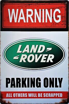 Land Rover Parking Only! Metal Plaque Retro Tin Sign Garage Shed Man Cave • 6.85£