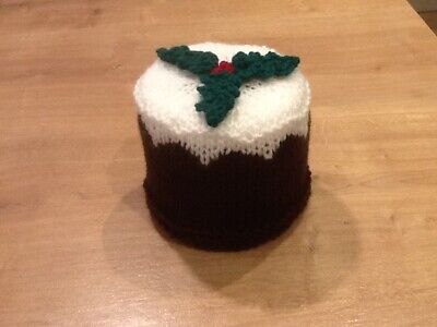 Hand Knitted Christmas Pudding Toilet Roll Cover • 8£