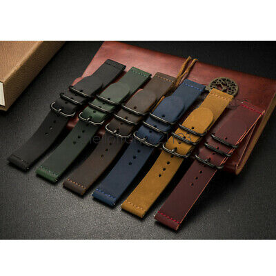 £10.99 • Buy 20mm 22mm Universal Vintage Leather Watch Strap Band W/ Ring Clasp Quick Release