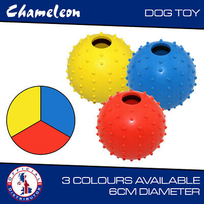 Dog Treat Ball For Pets Dogs Treat Sound Activity And Training Random Color Sent • 4.85£