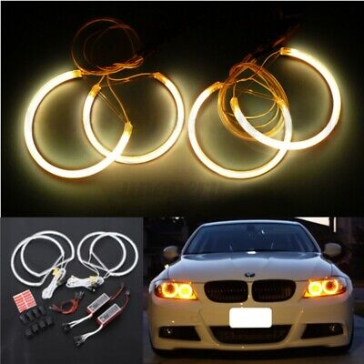 4x CCFL Angel Eyes Light Lamps 131mm & 146mm Halo Ring Non-projector FOR BMW E46 • 15.99£