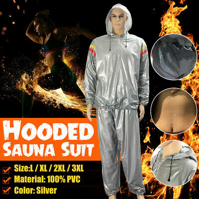 AU17.10 • Buy Unisex Sauna Sweat Suit Gym Fitness Loss Weight Exercise Training Body Work Out