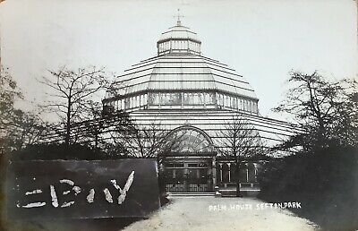 Palm House, Sefton Park, Liverpool. Real Photographic Postcard. • 6£