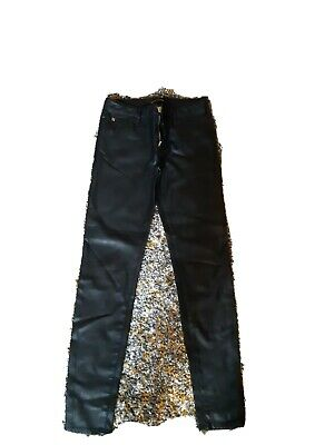 River Island Faux Leather Stretch Jeans Size 8 Womens  • 4.20£