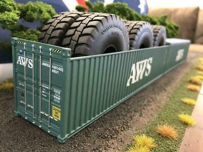 1:50 AWS 40' 9'6 Open Top Shipping Container -- Iconic Replicas Diecast • 63.45£