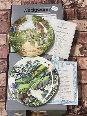 Wedgwood Collectors Plates The Path To The Green & Babbling Brook With Box Certs • 24.50£