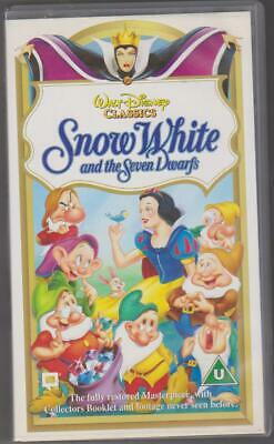 Walt Disney Snow White And The Seven Dwarfs Vhs Video Cassette • 1£