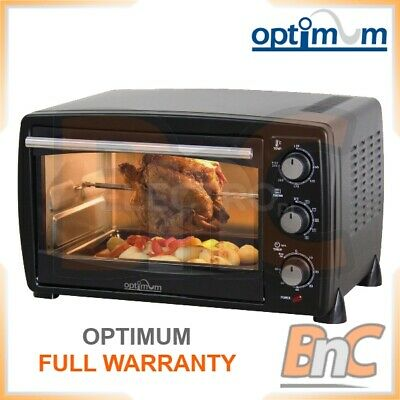 £79.39 • Buy OPTIMUM Oven Electric 1500 W 22 L Compact Table Top Grill Baking Cooking Roast