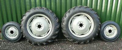£1219 • Buy TRACTOR RIMS & TYRES REARS / FRONTS  COMPLETE SET OF 4 12.4 X 28 + 600 X 16