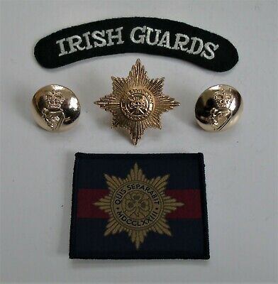 British Army Irish Guards Cap Badge/Buttons Shoulder Title & ID/Morale TRF Patch • 9.99£