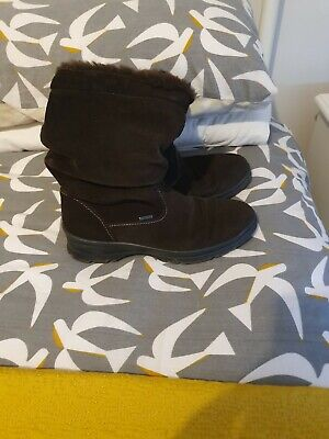 Pavers Brown Suede Winter Boots UK 6 EU 39 • 7.99£