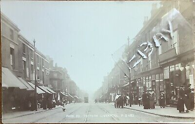 Park Road, Toxteth, Liverpool. Real Photographic Postcard. • 35£