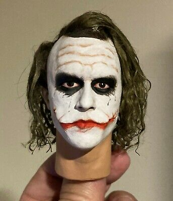 $50 • Buy 1/4 Scale Figure Custom The Joker Head Sculpt Hot Toys Enterbay Compatible NH3