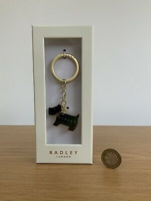 £17.99 • Buy RADLEY  Pageant Black Scottie Dog Keyring New & Boxed 'Great Christmas Gift'
