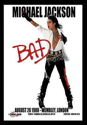 MICHAEL JACKSON 1988 CONCERT Wall Art Home Print Poster Wall Picture A4 + • 3.99£