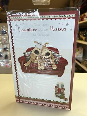 FOR A Wonderful Daughter And Partner CHRISTMAS CARD Deluxe Boofle Bear • 3.50£