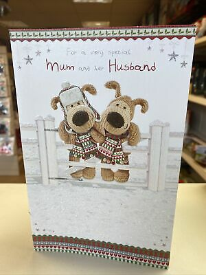FOR A Special Mum And Her Husband  CHRISTMAS CARD Deluxe With Insert Boofle Bear • 2.50£