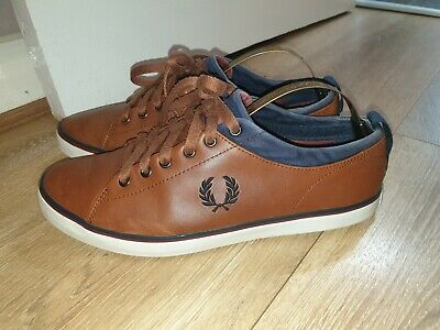 Mens Designer Fred Perry Two Tone Shoes/trainers Uk 8 Rrp £65.00 • 20£