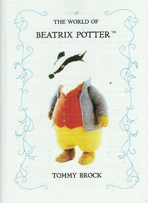 Beatrix Potter Tommy Brock Badger Toy/doll Tdb  Knitting Pattern  • 23£